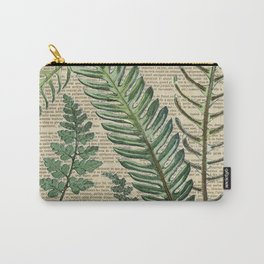 Book Art Page Botanical Leaves Carry-All Pouch