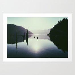 Comox Lake Art Print