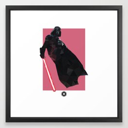Darth Vader Polygon Mesh Framed Art Print