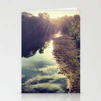 river Stationery Cards featuring River by Spencer Martin