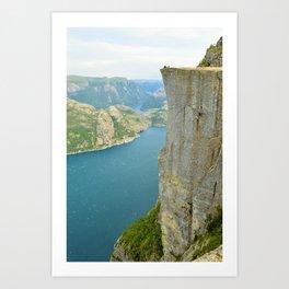 Pulpit Rock, Norway Art Print