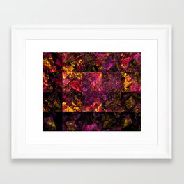 Stained windows Framed Art Print