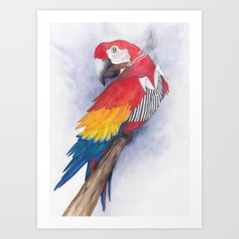 What If...?? Parrots were Gangsters! Art Print
