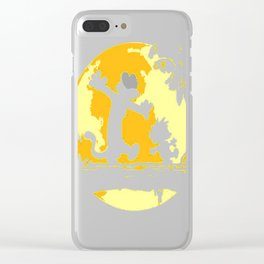 Calvin&Hobbes funny T-shirt Clear iPhone Case