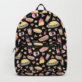 Skyline Chili Pattern Black Backpack