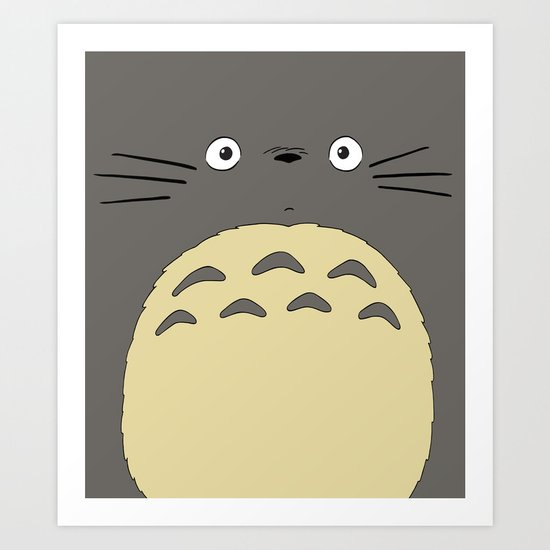 My neighbor troll - Studio Ghibli Art Print
