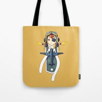 pilot Tote Bags featuring Pilot Banner by Freeminds