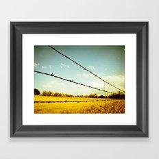 County Line Framed Art Print