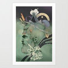 The traveler dreams Art Print