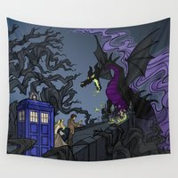 hallion Wall Tapestries featuring And Now You Will Deal with ME, O' Doctor by Karen Hallion Illustrations