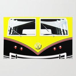 Yellow Art Cute minibus Rug