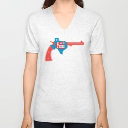 Don't mess with Texas Unisex V-Neck