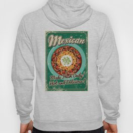 Mexican Chili Retro Poster Hoody