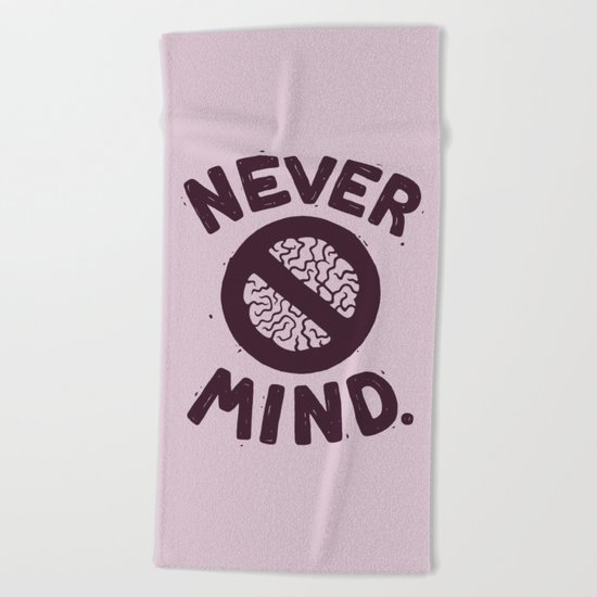 NEVER M/ND Beach Towel