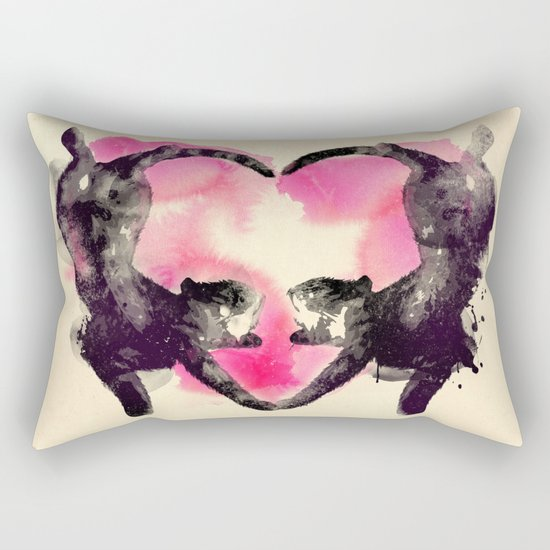 Cats love to sleep Rectangular Pillow