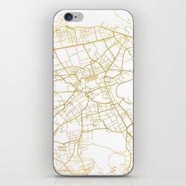 EDINBURGH SCOTLAND CITY STREET MAP ART iPhone Skin