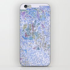doomsday in blue iPhone Skin