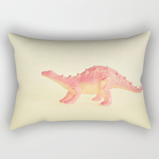 Pink Dinosaur Rectangular Pillow