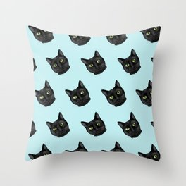 Black Cat Appreciation Day Throw Pillow