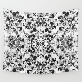 Beautiful Black and White Terrazzo Tile Wall Tapestry