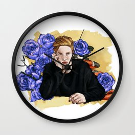 Redhead and coral snake Wall Clock