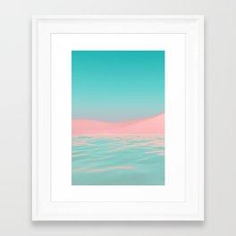 Pink Beach Framed Art Print