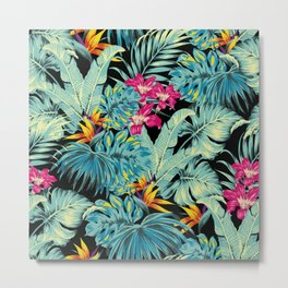 Tropical Greenery Island Dreams Metal Print
