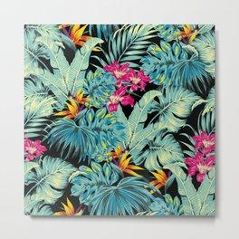 Tropical Greenery Island Dreams Metal Print
