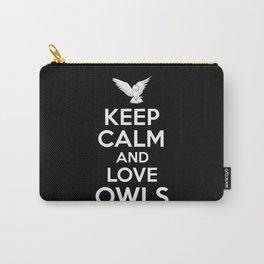 Keep Calm Owl Carry-All Pouch