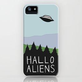 Hallo Aliens iPhone Case