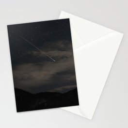 Perseids Meteor Shower over Devils Castle Stationery Cards