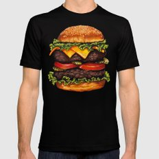 Cheeseburger - Double Black Mens Fitted Tee SMALL