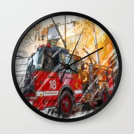 Chicago FD Wall Clock