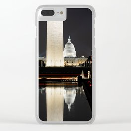 Reflection in color Clear iPhone Case