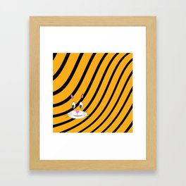 Terry the Tiger Framed Art Print