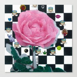 MY ROSE IS KAWAII Canvas Print