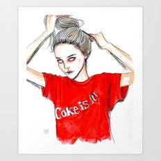 coke is it / sky  f Art Print