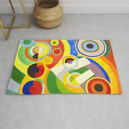 Robert Delaunay - Rythme, Joie de vivre - Abstract Colorful Art Rug