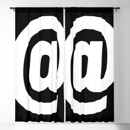 At Sign (White & Black) Blackout Curtain