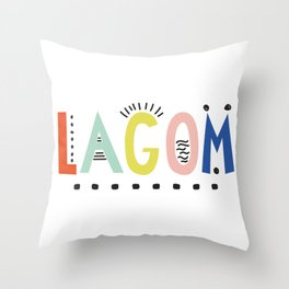 Lagom colors Throw Pillow