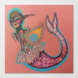indian goddess mermaid Canvas Print