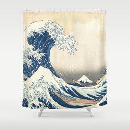 The Great Wave off Kanagawa Hokusai Shower Curtain