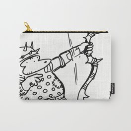 Fantasy Archer Ape Shoots Spiky Bow Carry-All Pouch