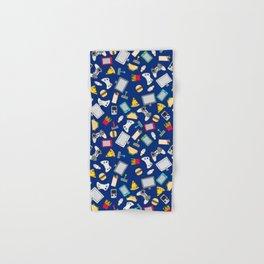 Gamer Blue Gaming Fast Food Kids Retro Pattern Hand & Bath Towel