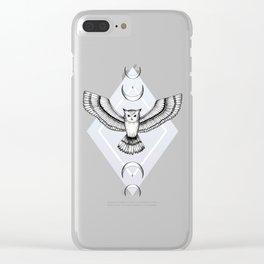 Mystic Owl Clear iPhone Case