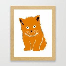 Cat Lover Art Cute Orange Kitten Framed Art Print