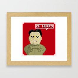Kim Jong Il Framed Art Print