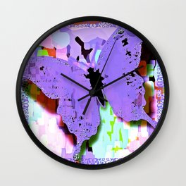 If I Were A Butterfly #2 Wall Clock