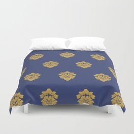 Free Marches (Blue) Duvet Cover