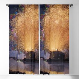 Fireworks on Castel Sant'Angelo & Tiber River, Rome, Italy by Jacob Philipp Hackert Blackout Curtain